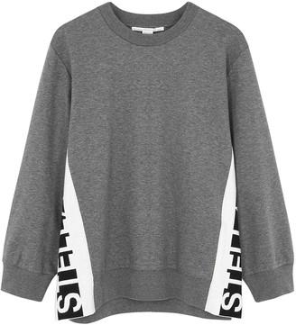 Stella McCartney Grey logo cotton sweatshirt