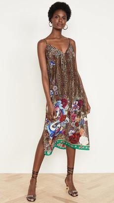 Camilla Lace Up Midi Dress
