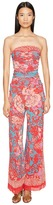 Fuzzi Strapless Jumpsuit in Dragonessa Print Women's Jumpsuit & Rompers One Piece