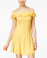 Teeze Me Juniors' Off-The-Shoulder A-Line Dress