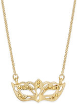 Kate Spade Dress The Part Gold-Tone Masquerade Necklace