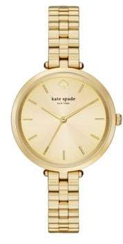 Kate Spade Holland Yellow Goldtone Stainless Steel Bracelet Watch