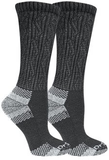 Dr. Scholl's Women's Advanced Relief Wide Top Crew Socks with BlisterGuard 2 Pack