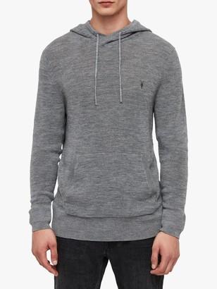 AllSaints Ivar Merino Wool Knit Hoodie, Grey