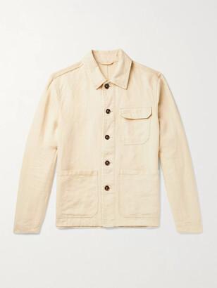 Incotex Linen Shirt Jacket