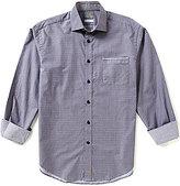 Thomas Dean Mini-Square Long-Sleeve Woven Shirt