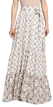 A.L.C. Caroline Floral Print Tie Waist Skirt
