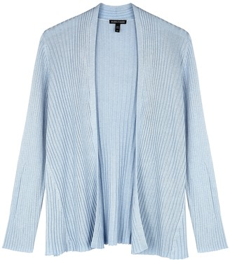 Eileen Fisher Light blue ribbed-knit cardigan