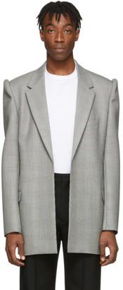 Balenciaga Black and White 3D Sleeves Blazer