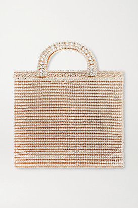Rosantica Teodora Crystal-embellished Gold-tone Tote - one size