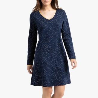 Le Chat Ambre Polka Dot Cotton Nightdress