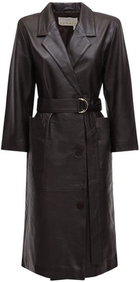 Remain Anna Leather Blazer Dress
