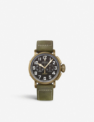 Zenith 29.2430.4069/21.C800 Pilot Type 20 Chronograph leather and bronze watch