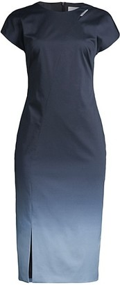 HUGO BOSS Daya Keyhole Ombre Sheath Dress
