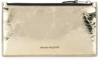 Alexander McQueen metallic Skull stud wallet