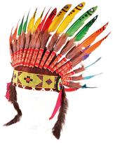 Smallable Indian Rainbow Feather Headdress