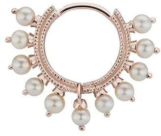 Maria Tash 8mm 14kt rose gold pearl Coronet earring