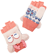 John Lewis Children's Novelty Fawn Christmas Gloves, Cream