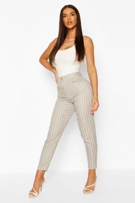 boohoo Pastel Stripe Slim Fit Pants