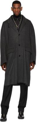 Random Identities Grey Blanket Coat