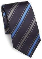 Saks Fifth Avenue COLLECTION Multi Diagonal Stripe Silk Tie