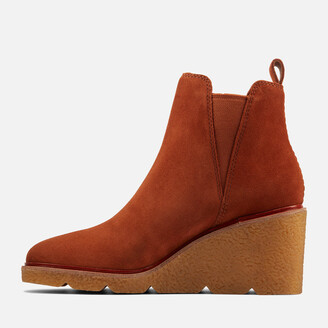 Clarks Women's Clarkford Top Suede Wedged Boots