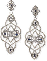 Armenta New World Diamond & Sapphire Scroll Earrings