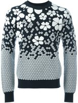 DSQUARED2 floral intarsia jumper