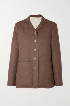 LVIR Linen And Cotton-blend Pique Blazer - Brown