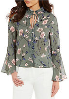 Lucy Paris Jasmin Floral Print Bell Sleeve Blouse