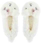 Accessorize Paula Polar Bear Fluffy Ballerina Slippers