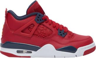 Jordan Retro 4 Basketball Shoes - Gym Red / Obsidian White