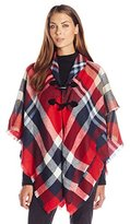 Collection XIIX Women's Multi Plaid Ruana with Closure