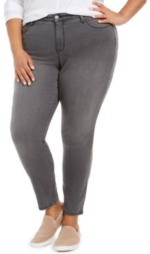Style&Co. Style & Co Plus Size Embellished-Pocket Curvy-Fit Skinny Jeans, Created for Macy's