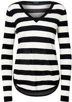 Ralph Lauren Petite Striped Silk-Blend Sweater
