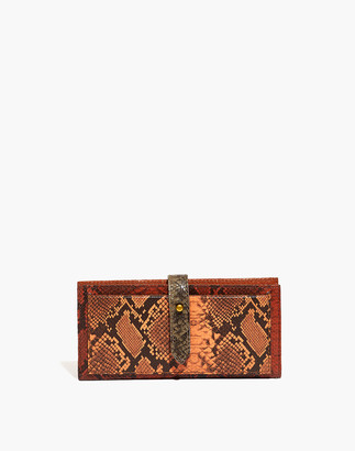 Madewell The Post Wallet: Colorblock Snake Embossed Edition