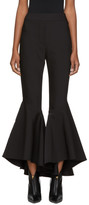 Ellery Black Sinuous Crop Flare Trousers