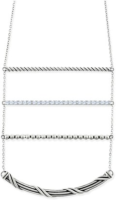 Peter Thomas Roth Sterling Silver Bolo White Topaz Necklace