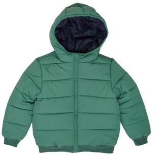 Epic Threads Toddler Boys Dinosaur Graphic Hooded Full Zip Reversible Puffer Jacket