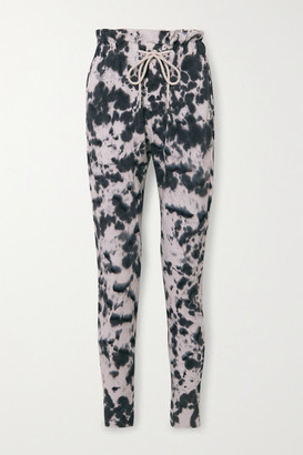 Bassike Tie-dyed Organic Cotton-jersey Track Pants - Black