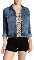 Melrose and Market Ruffle Back Denim Jacket