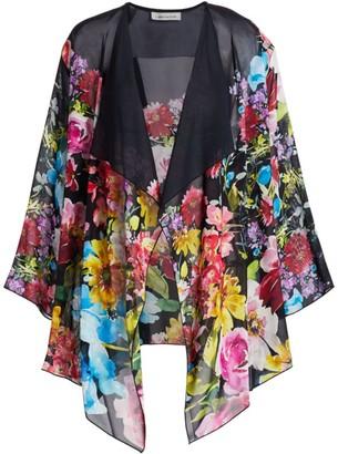 Caroline Rose Flirty Floral Georgette Kimono