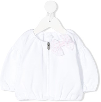 Il Gufo Polka Dot Bow Detail Jacket