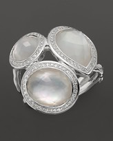 Ippolita Sterling Silver Stella Ring in Mother-of-Pearl Doublet with Diamonds