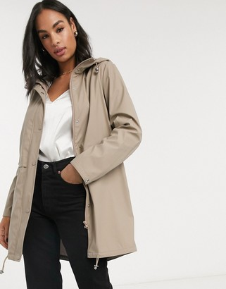 Vero Moda lightweight rain coat in beige