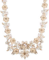 """Marchesa Gold-Tone Crystal Floral Collar Necklace, 16"""" + 3"""" extender"""