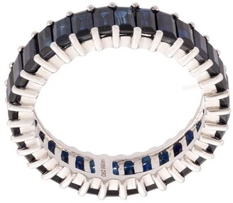 Dana Rebecca Designs 14kt white gold Kristyn Kylie sapphire band