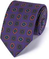 Charles Tyrwhitt Purple Silk English Luxury Medallion Tie