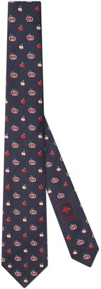 Gucci GG apple silk jacquard tie