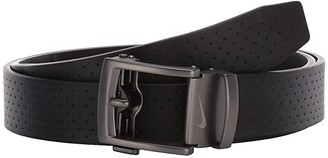 Nike Acufit Perforated Texture Belt (Black) Men's Belts